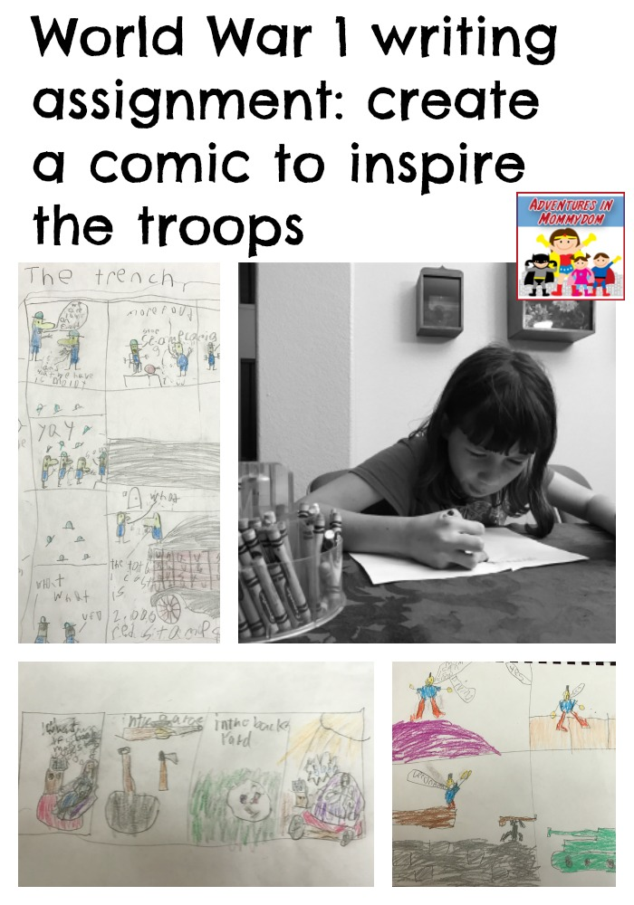 World War 1 writing assignment for kids