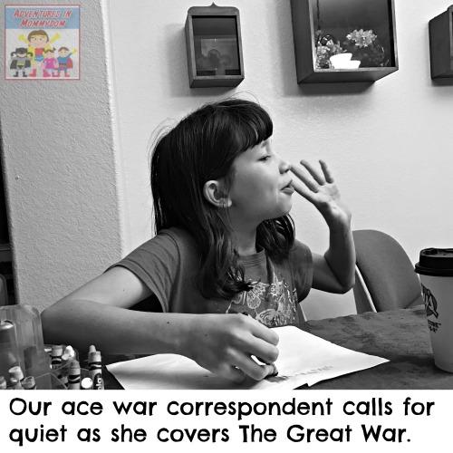 World War 1 writing assignment