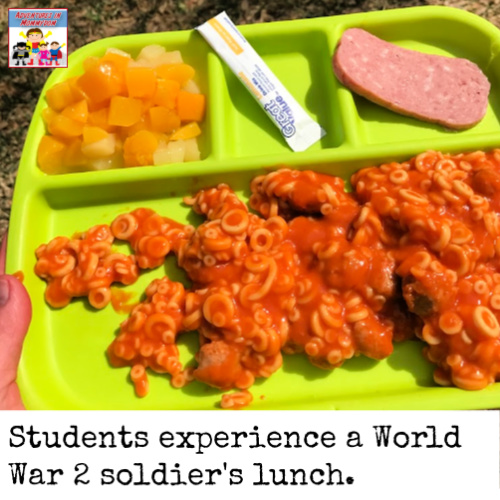 World War 2 rations lunch