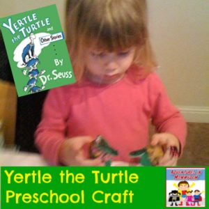 Yertle the turtle craft for preschool kinder my father's world