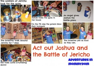 act out Joshua and the battle of Jericho