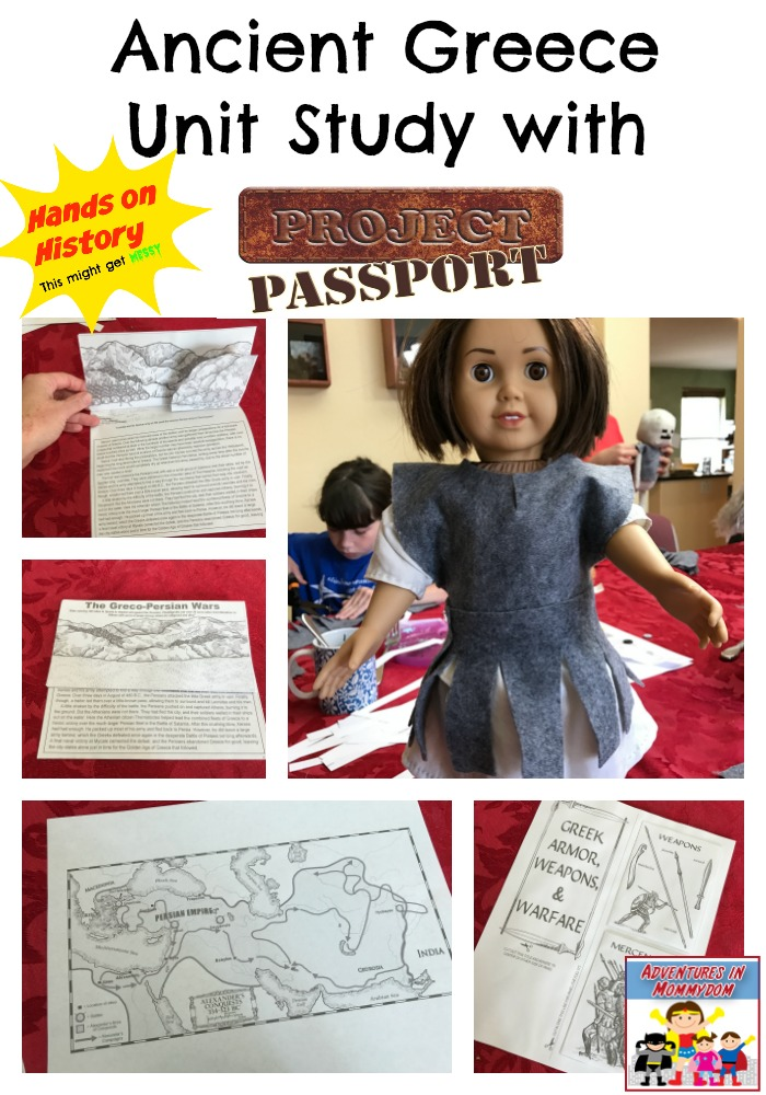 ancient Greece unit study with Project Passport