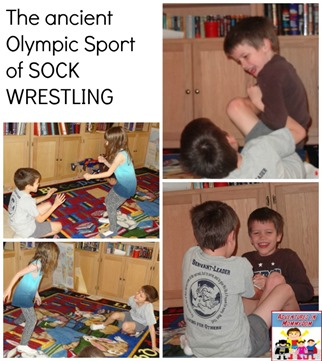 ancient Olympic sport of sock wrestling