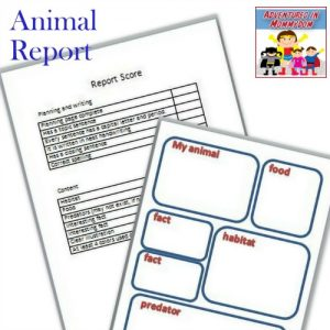 How to write an animal report with free printable