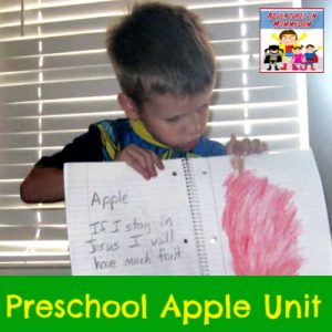apple words to remember preschool apple unit
