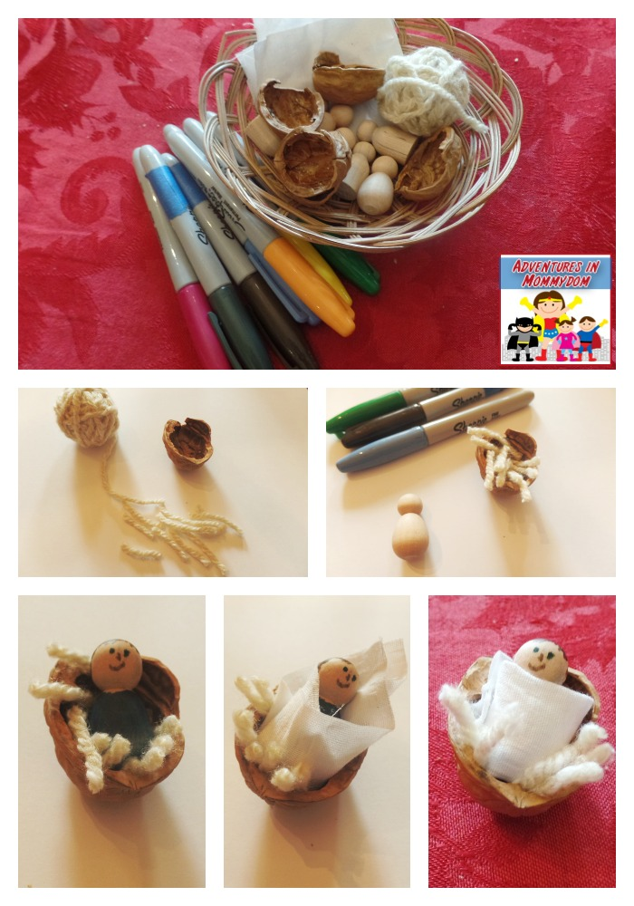 baby Jesus walnut shell craft