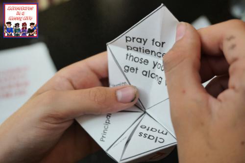 back to school prayer fortune teller