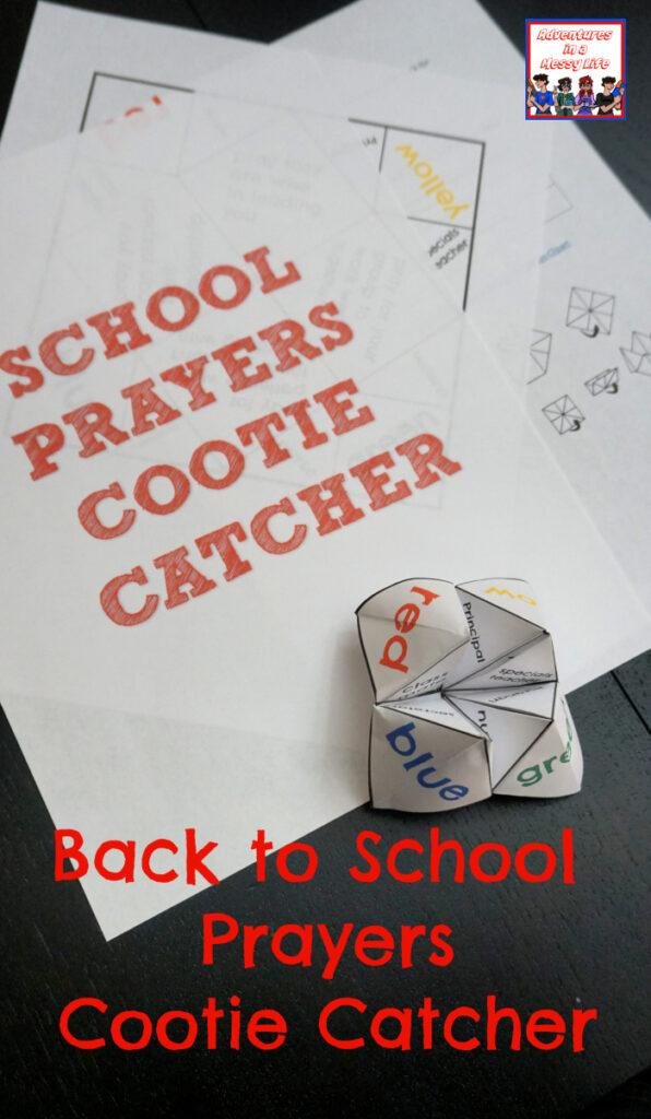 back to school prayers cootie catcher