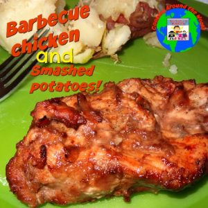 barbecue chicken and smashed potatoes from Australia