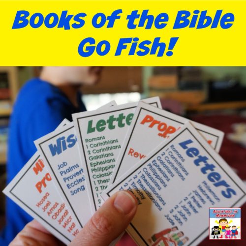 books of the Bible card game go fish