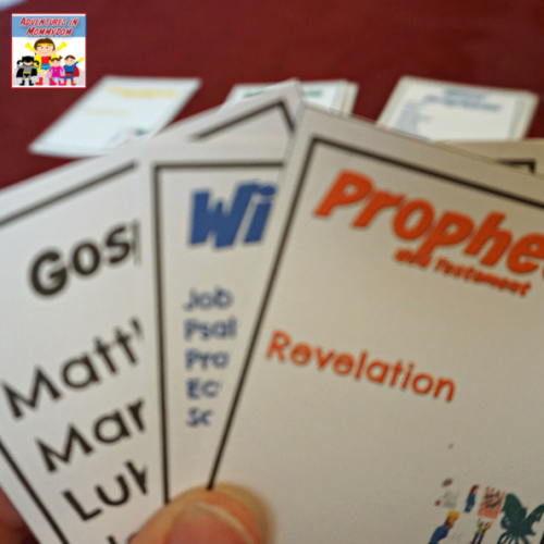 books of the Bible card game playing Go Fish