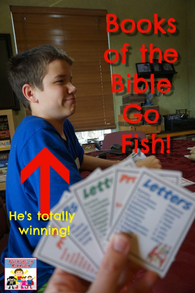books of the Bible card game playing go fish I lost