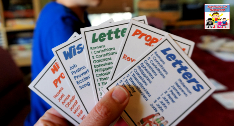 books of the Bible card game try go fish