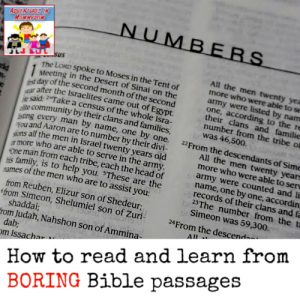 boring Bible passages