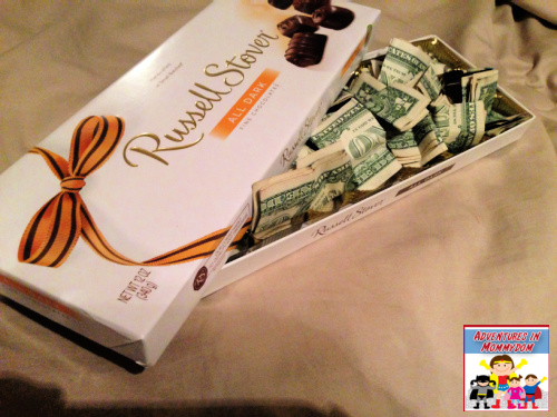 box of chocolates creative way to give money
