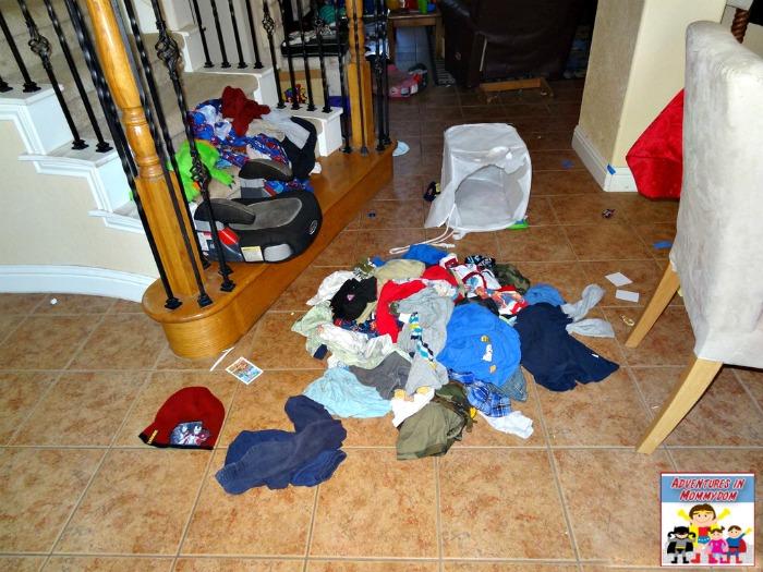 boys idea of sorting laundry