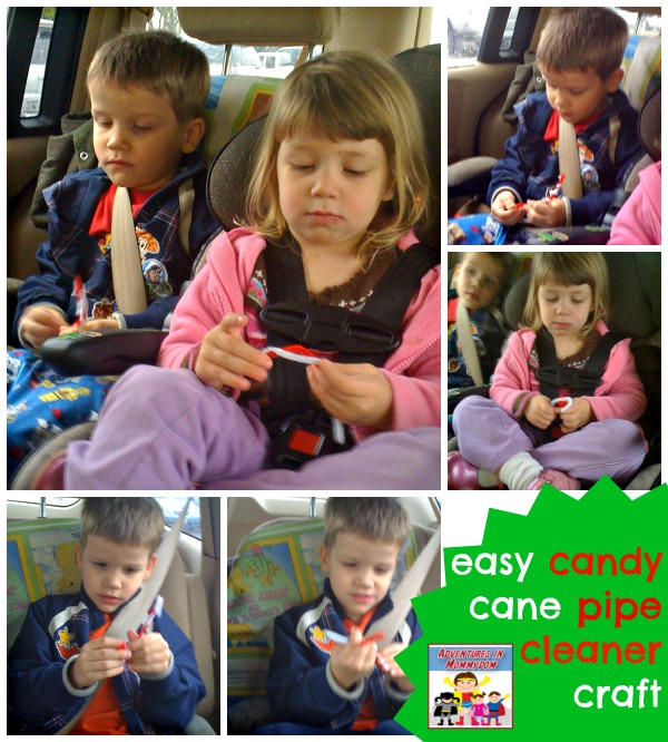 candy cane pipe cleaner craft