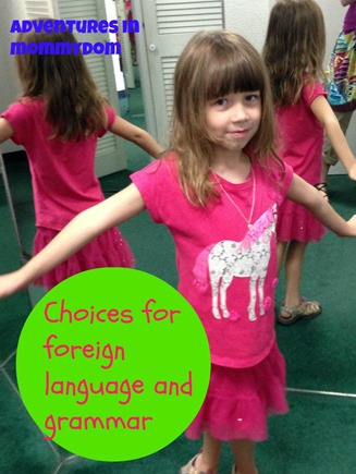 choices for foreign language and grammar