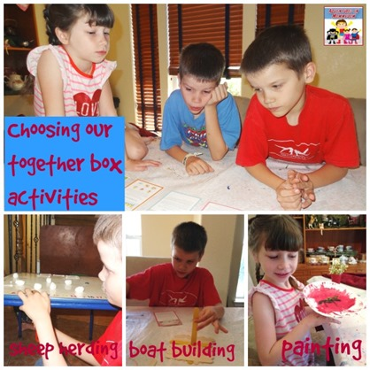 choosing our together box activities