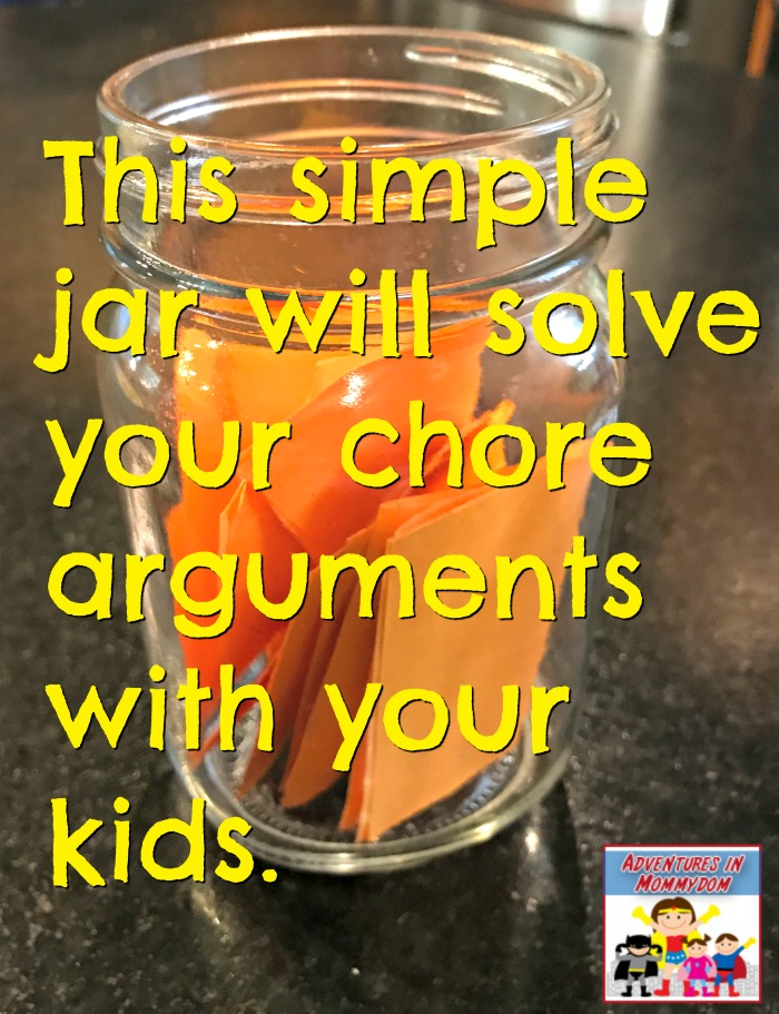 cleaning chore jar