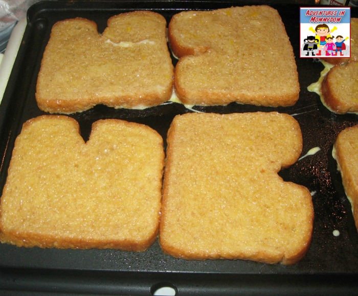 cooking the french toast