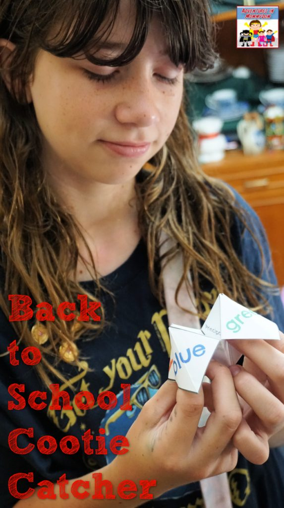 cootie catcher for back to school prayers