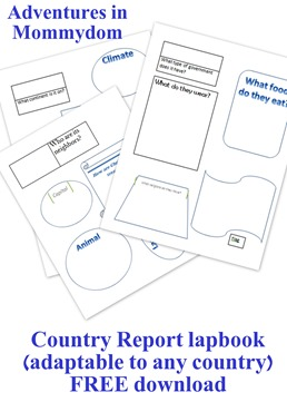 country report lapbook