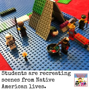 create a Native American diorama with legos and creativity