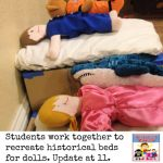 create a historical doll bed