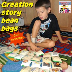 creation story bean bags free printable