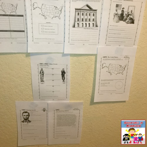 differentiated Civil War American History timeline