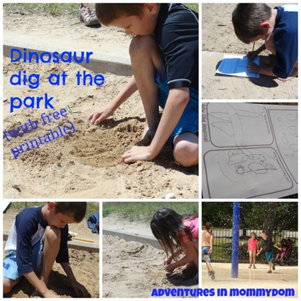 dinosaur dig at the park