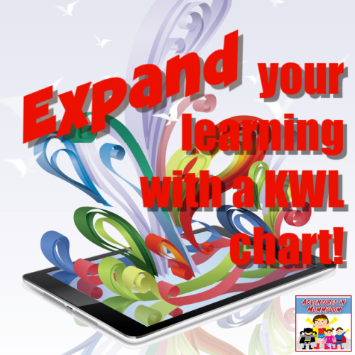 expand learning with a KWL chart
