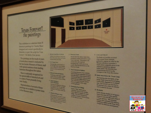 explanation of paintings at San Jacinto monument