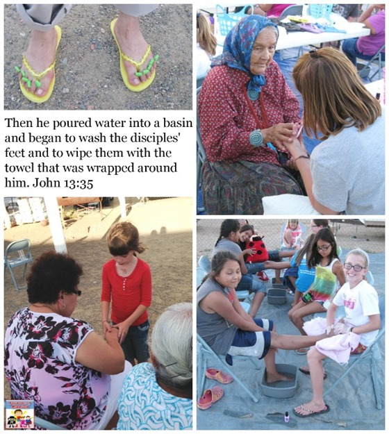 family mission trip making others feel special
