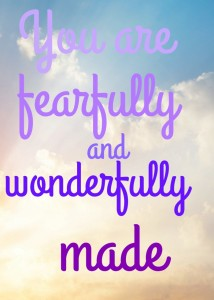 Pondering wonderfully made (and an amazing giveaway on this topic)