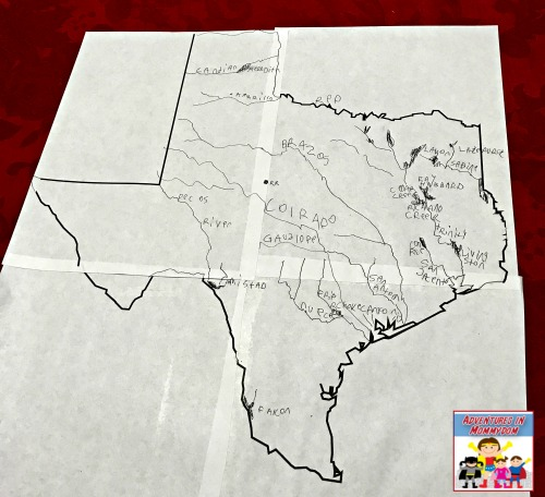 final results of rivers of Texas for Texas geography unit