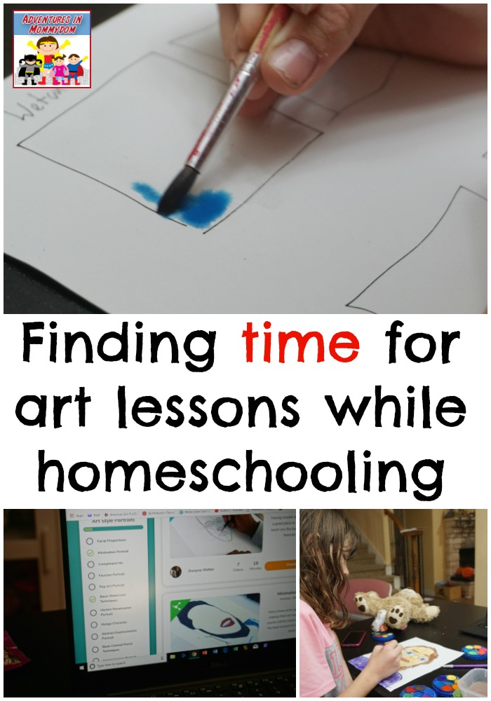 finding time for art lessons while homeschooling