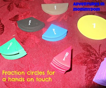 fraction circles for a hands on touch