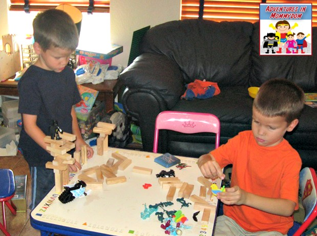 free play after the stonehenge lesson