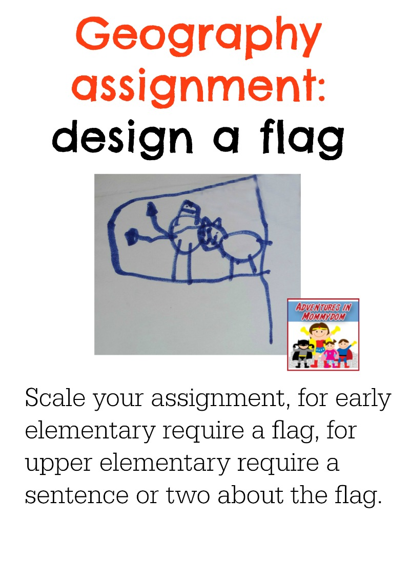geography assignment design a flag