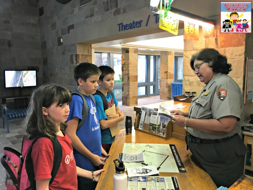 get a junior ranger badge at national parks