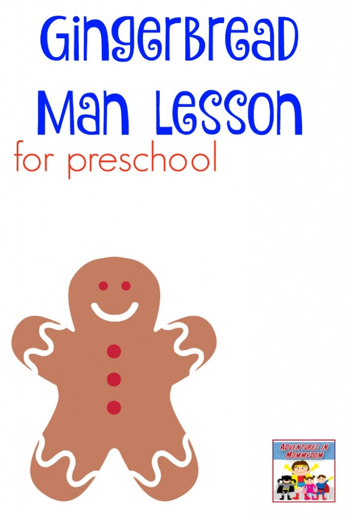 gingerbread man lesson for preschool