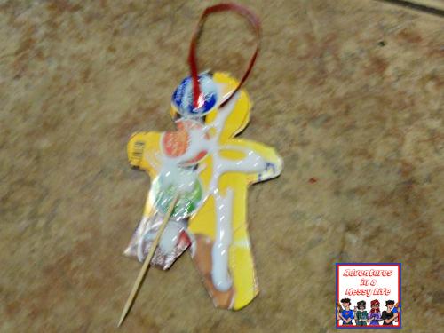 gingerbread pirate ornament step 2