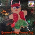 gingerbread pirates ornament craft for kids