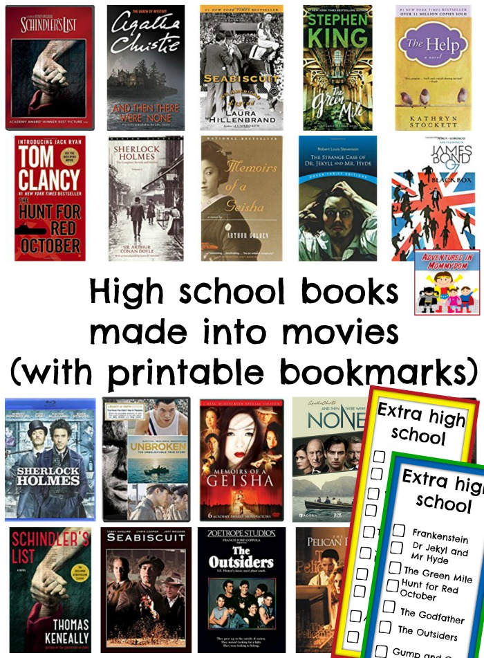 high school books made into movies
