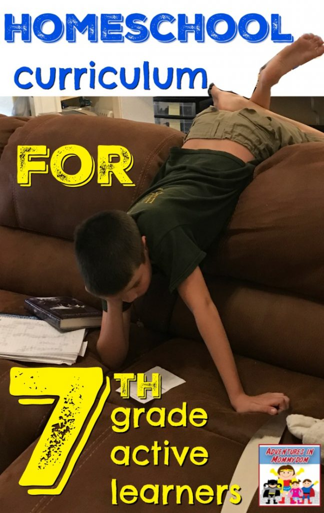 homeschool curriculum for 7th grade active learners