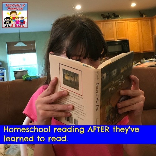 homeschool reading with Apologia