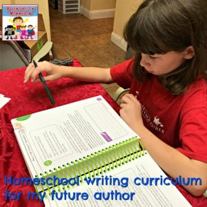 Homeschool writing curriculum for the busy Mom