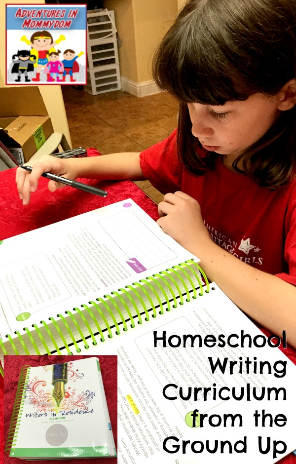 homeschool writing curriculum from the ground up